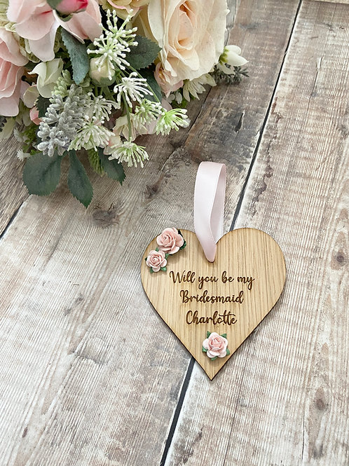 Bridal Party Proposal Oak Decorations