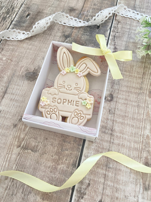 Easter Bunny Personalised Boxed Biscuit