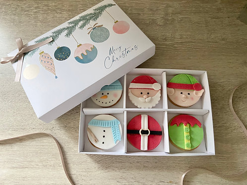 Extra Large Christmas Character Cookie Gift Box