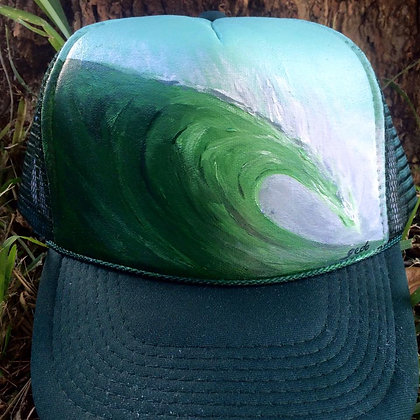 Herman Green on forest green trucker hat