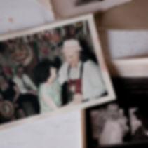vintage photos on a desk