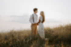 bride and groom eloping at max patch in the blue ridge parkway