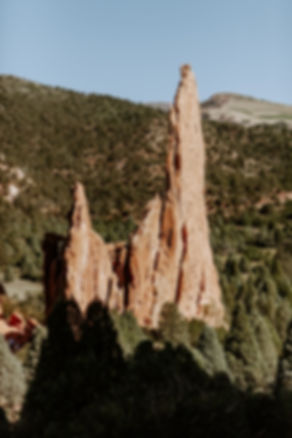 rock formation at garden of the gods
