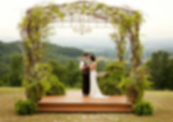 Outdoor wedding at Olive View Events