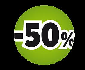 -50 % Logo