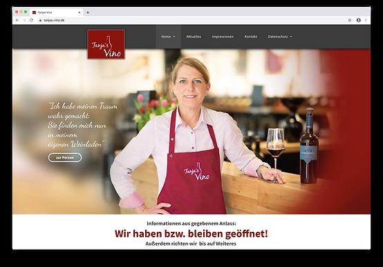 Tanjas Vino Website