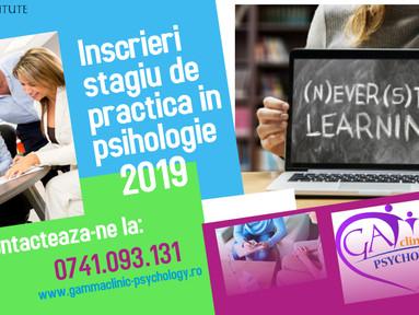 Stagii de practica/voluntariat in psihologie clinica si psihoterapie