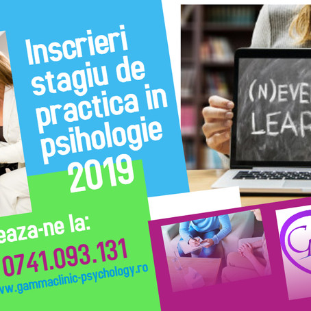 Stagii de practica/ voluntariat in psihologie clinica si psihoterapie