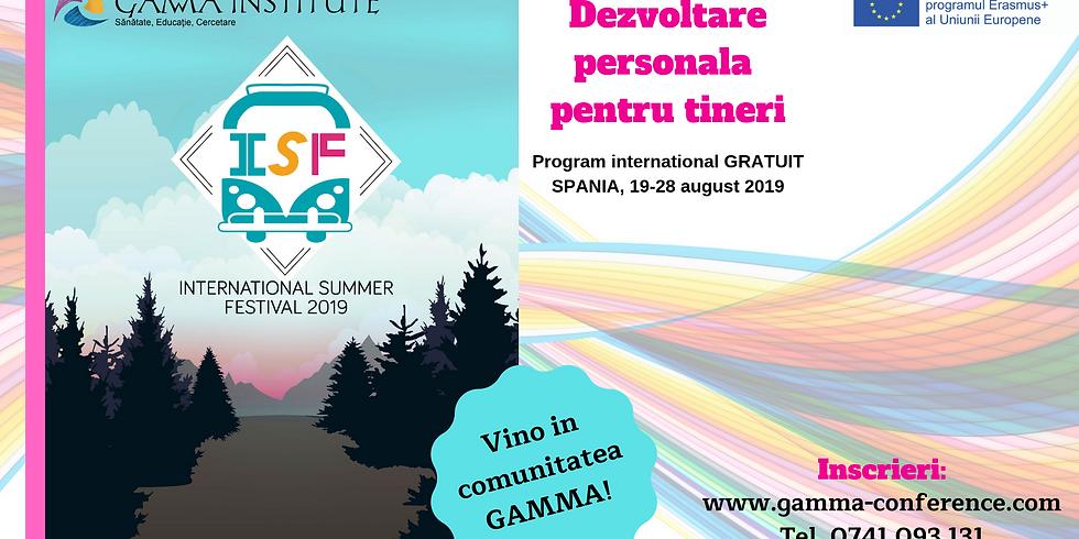 International Summer Festival - program de dezvoltare personala pentru tineri