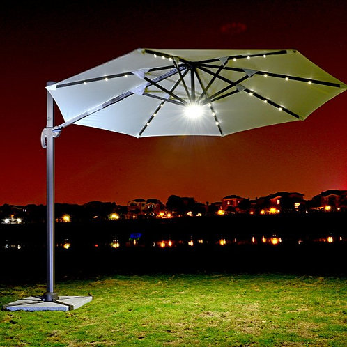ASPS 391 Solar Umbrella With LED Light In New Roman Umbrella