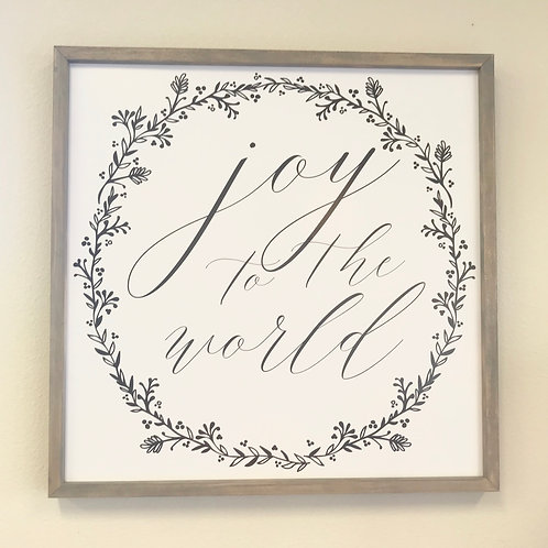 Joy to the World Sign, neutral
