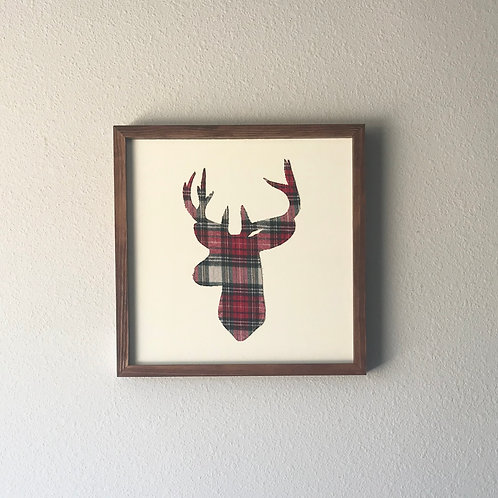 Fabric Reindeer Wall Sign