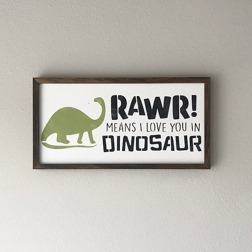 Rawr means I love you sign