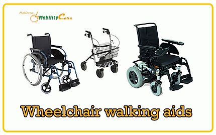Wheelchair walking aids