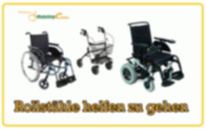 Rollstuhle helfen zu gehen