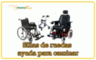 Sillas de ruedas ayuda para caminar