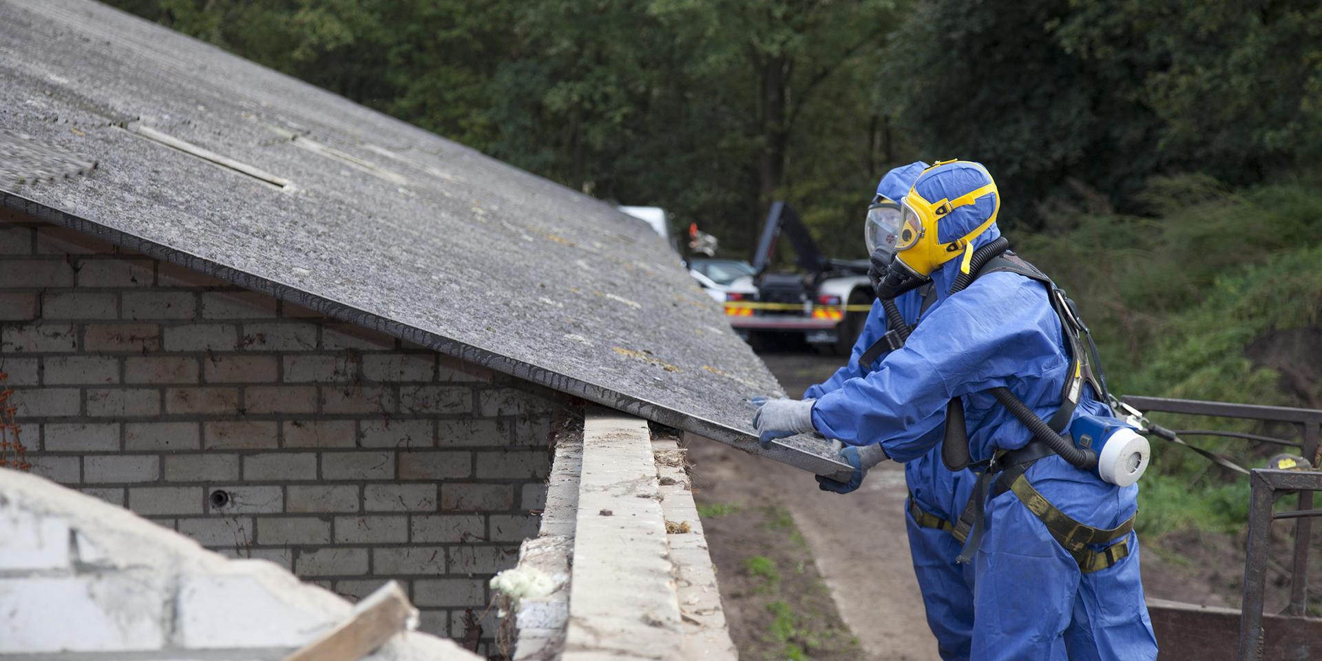 Entfernen von Asbest Roofing