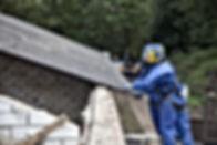 Retrait de la toiture amiante
