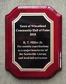 RT Miller Jr HoF Plaque