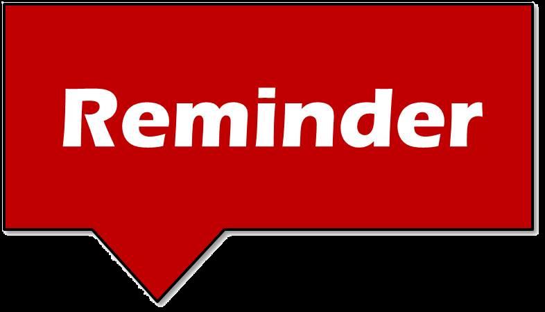 Reminder Banner