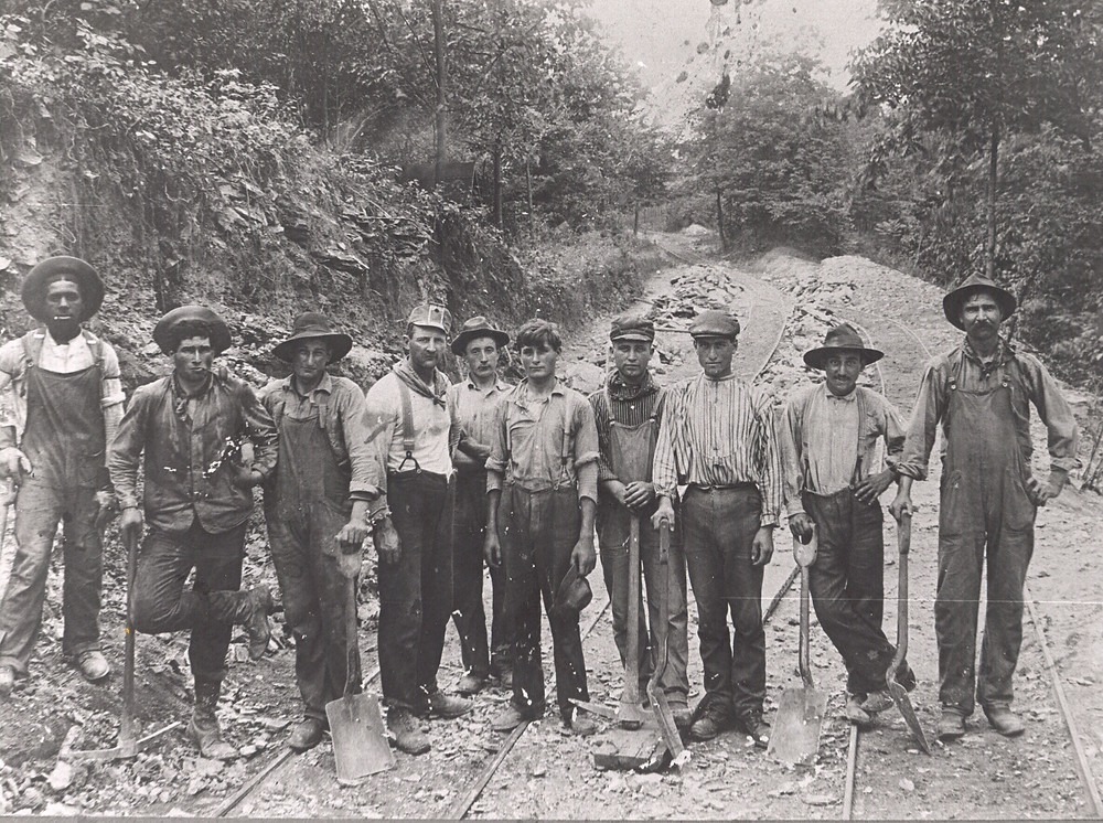 Gypsum Miners in Garbutt
