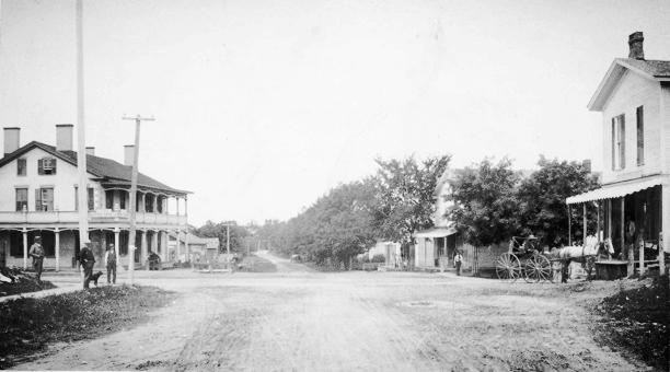 Mumford 4 Corners circa 1900