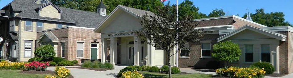 Town of Wheatland New York Municipal Building in the Village of Scottsville