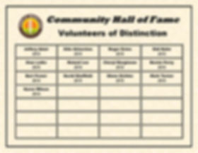 Volunteers of Distinction Wall List_Page