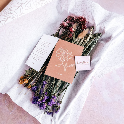 Brievenbus droogbloemen