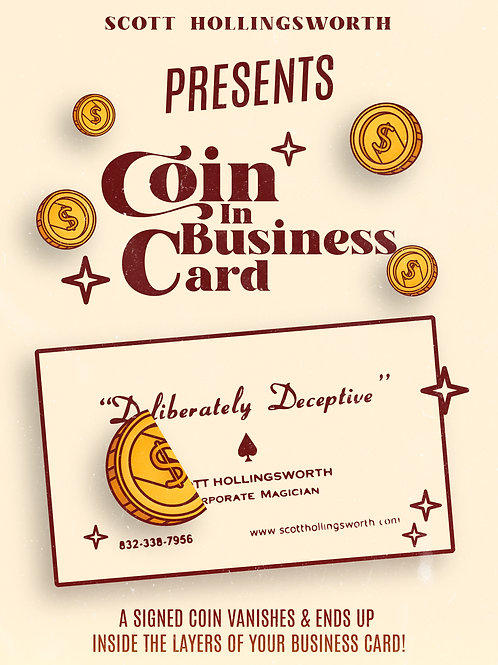 Coin In Business Card Download