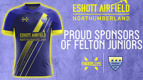 Eshott Airfield sponsors local junior football team
