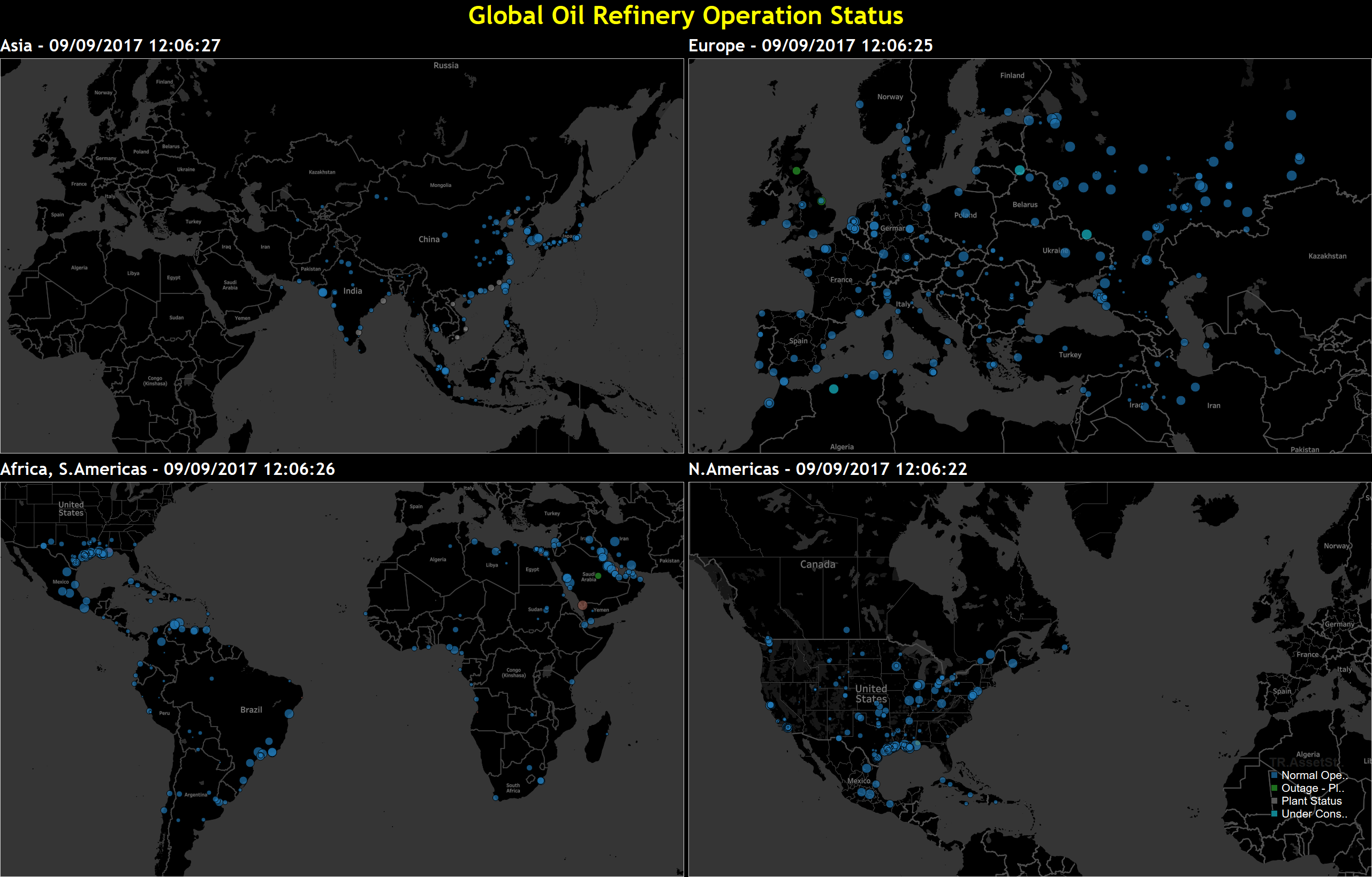 Global Refinery Status Monitor