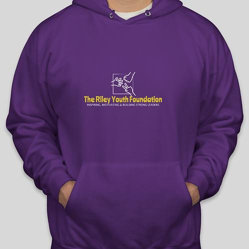 Hanes EcoSmart® 50/50 Pullover Hoodie — Purple