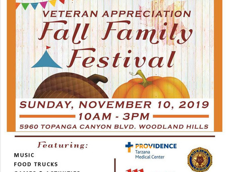 Join us at The Veteran Appreciation Fall Family Festival!