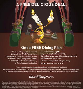 Get a FREE Dining Plan