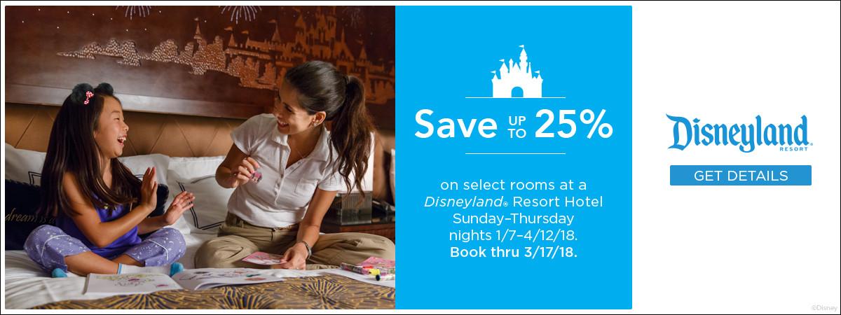 Disneyland Resort Hotel Room Offer