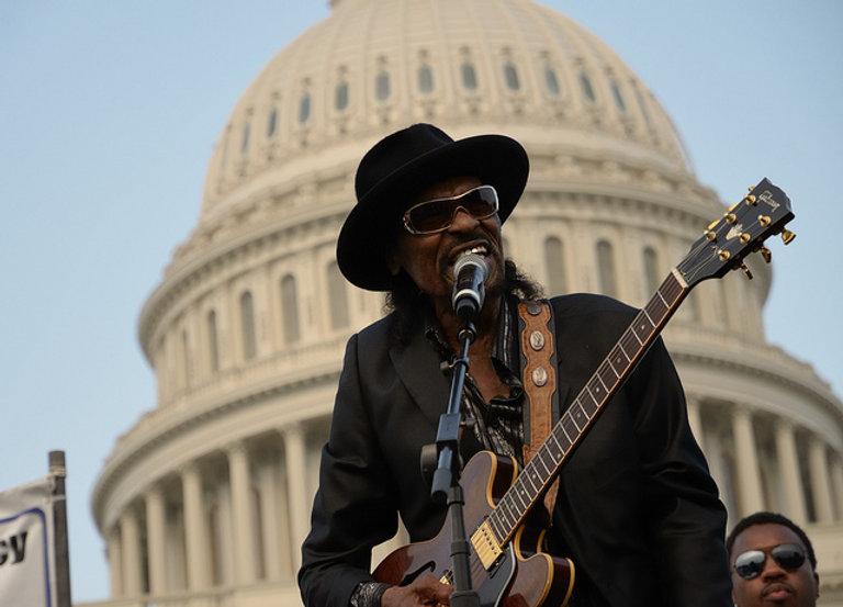 June 9, 2011 (Washington, DC) The godfather of go-go, Chuck Brown. (Photo: Don Baxter;Media Images International)