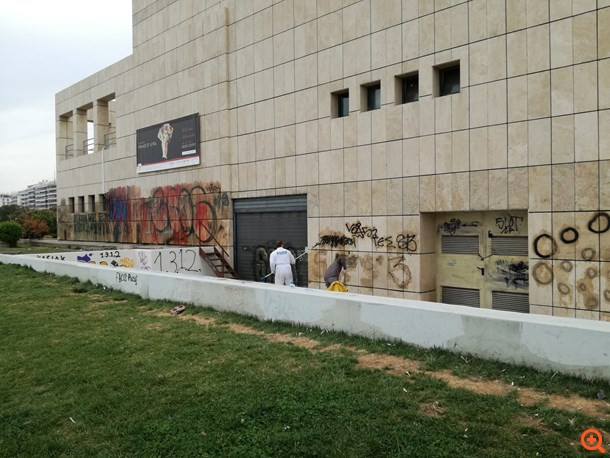 Alpha Bank cleans up historic art buildings