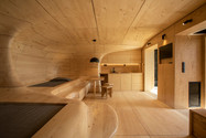 Urge to seek shelter in cave inspires design of Corinth  mountain chalet (video)