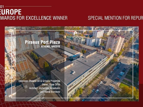 5 projects recognized in ULI Europe awards; Piraeus Port Plaza stands out
