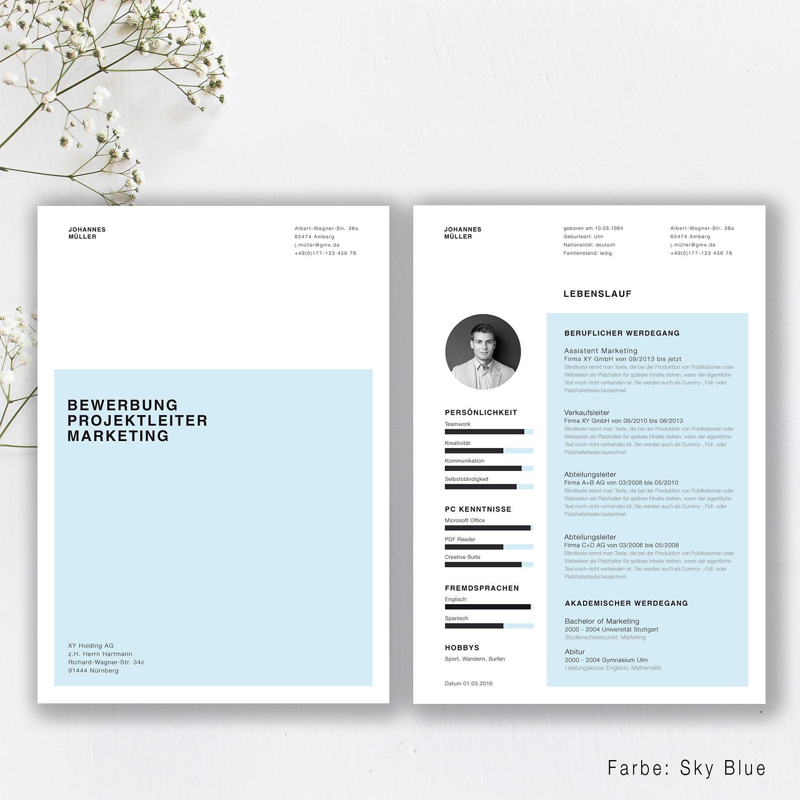 Kreative Bewerbungsvorlagen | Clean Style