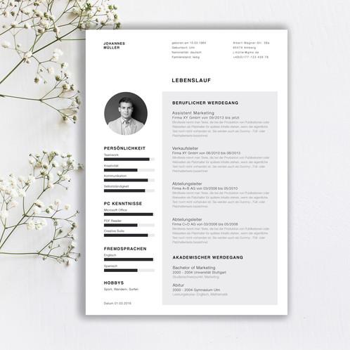Clean Style | Kreative Bewerbungsvorlagen