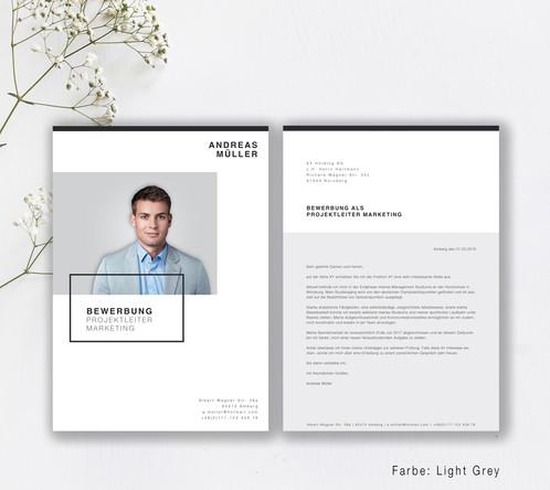 minimalistisches design kombiniert mit einem strukturierten aufbau unsere vorlage minimal style wird den schreibtisch des personalers nicht verlassen - Design Bewerbung