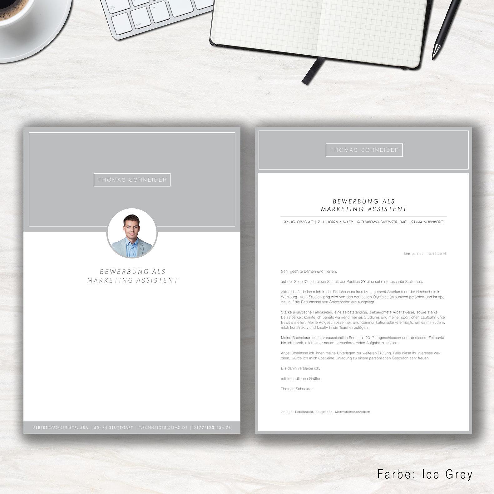 Kreative Bewerbungsvorlagen | Modern Office