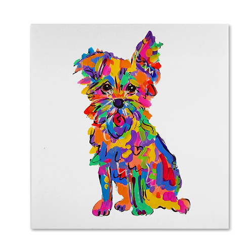 Rainbow Palz Terrier Painting
