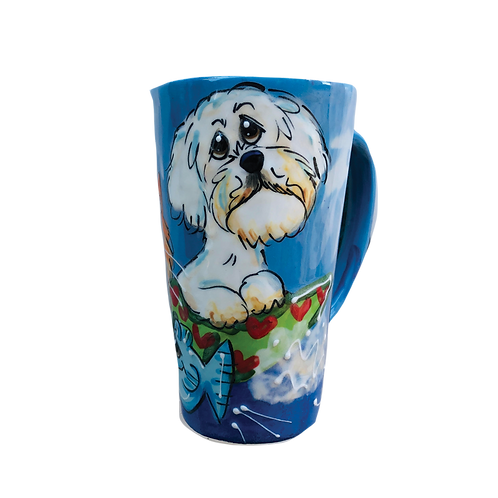 Doodle and Tabby Latte Mug