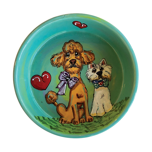 Doodle and Westie bowl