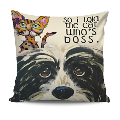 Who's Boss Pillow