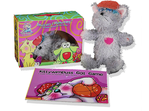 Kittywimpuss Got Game© Book & Hand Puppet Gift Boxed Set