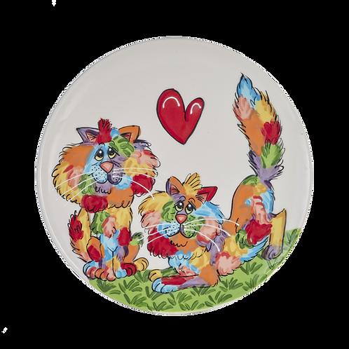 Rainbow Palz Cats Serving Plate